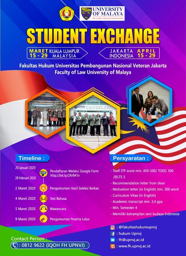 Student Exchange Fakultas Hukum UPNVJ