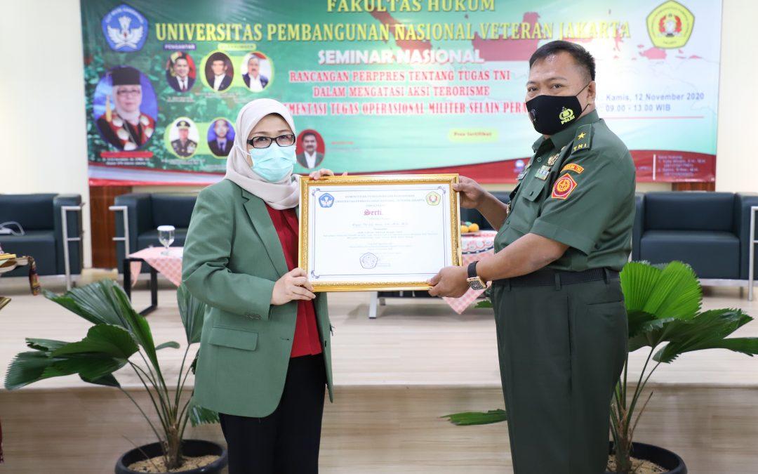 Kegiatan seminar nasional rancangan perppres tentang tugas tni dalam mengatasi aksi terorisme implementasi tugas operasional militer selain perang (10)