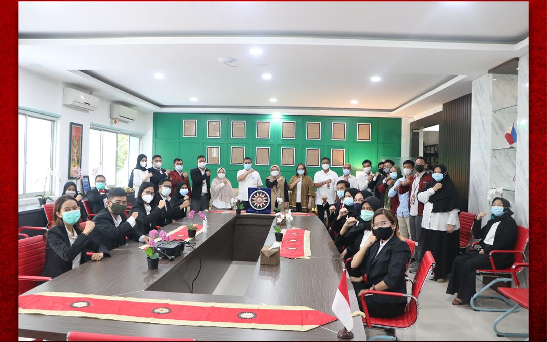 Syukuran Dalam Rangka Kemenangan Organisasi Mahasiswa Unit Peradilan Semu (UPS) Fakultas Hukum UPN Veteran Jakarta sebagai Juara 3 National Moot Court Competition Anti Money Loundring VI Tahun 2021