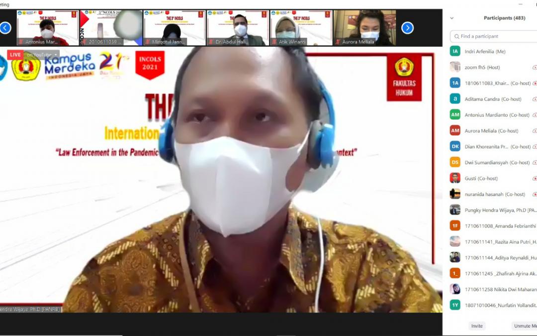 Fakultas Hukum UPN Veteran Jakarta menyelenggarakan kegiatan 3rd International Conference on Law Studies (INCOLS) (13)