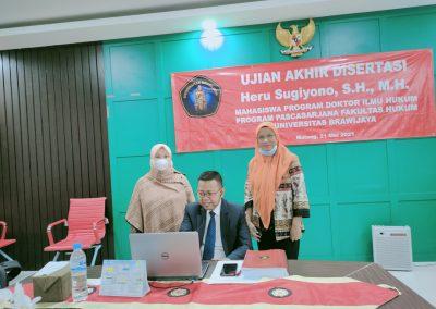 Selamat dan Sukses kepada Bapak Heru Sugiyono, S.H., M.H. Dosen Tetap Fakultas Hukum atas diraihnya gelar Doktor (6)