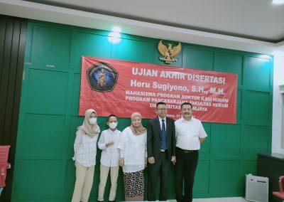 Selamat dan Sukses kepada Bapak Heru Sugiyono, S.H., M.H. Dosen Tetap Fakultas Hukum atas diraihnya gelar Doktor (9)
