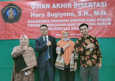 Selamat dan Sukses kepada Bapak Heru Sugiyono, S.H., M.H. Dosen Tetap Fakultas Hukum atas diraihnya gelar Doktor (12)