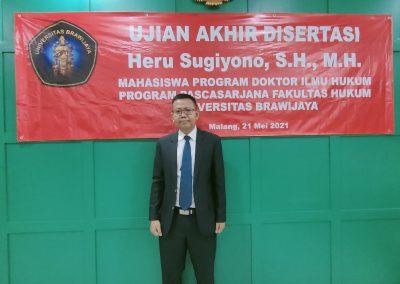 Selamat dan Sukses kepada Bapak Heru Sugiyono, S.H., M.H. Dosen Tetap Fakultas Hukum atas diraihnya gelar Doktor (36)