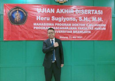 Selamat dan Sukses kepada Bapak Heru Sugiyono, S.H., M.H. Dosen Tetap Fakultas Hukum atas diraihnya gelar Doktor (38)