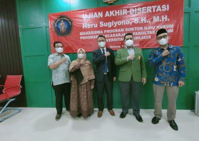 Selamat dan Sukses kepada Bapak Heru Sugiyono, S.H., M.H. Dosen Tetap Fakultas Hukum atas diraihnya gelar Doktor (40)