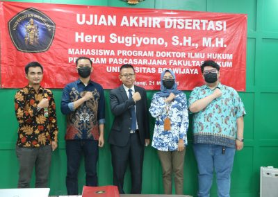 Selamat dan Sukses kepada Bapak Heru Sugiyono, S.H., M.H. Dosen Tetap Fakultas Hukum atas diraihnya gelar Doktor (16)