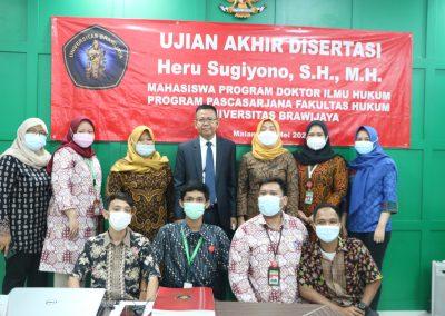 Selamat dan Sukses kepada Bapak Heru Sugiyono, S.H., M.H. Dosen Tetap Fakultas Hukum atas diraihnya gelar Doktor (17)