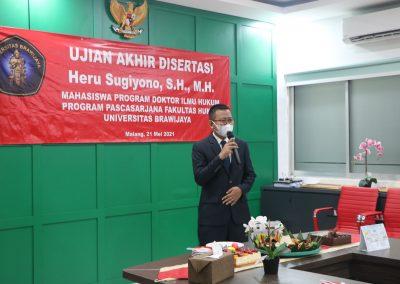 Selamat dan Sukses kepada Bapak Heru Sugiyono, S.H., M.H. Dosen Tetap Fakultas Hukum atas diraihnya gelar Doktor (23)