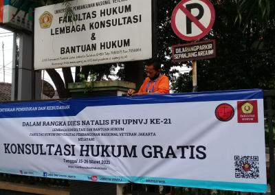 Dalam Rangka Dies Natalis FH UPNVJ yang Ke – 21, Fakultas Hukum UPN Veteran Jakarta Lewat Lembaga Konsultasi dan Bantuan Hukum (LKBH) Mengadakan Konsultasi Hukum Gratis (6)