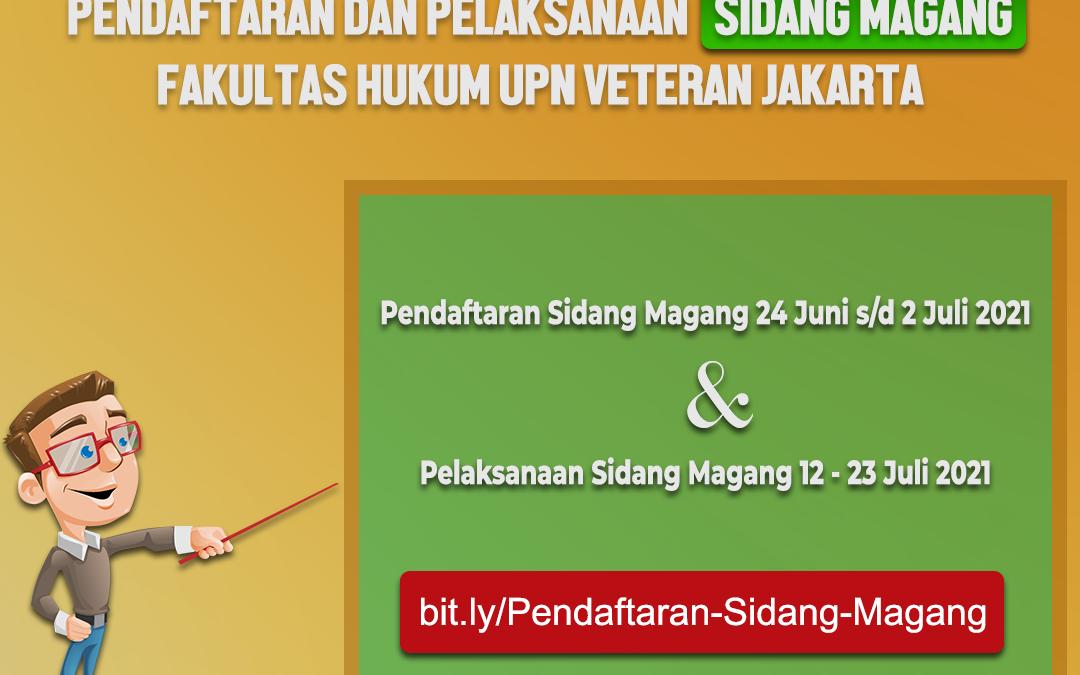 Pendaftaran dan Pelaksanaan Sidang Magang Fakultas Hukum UPN Veteran Jakarta
