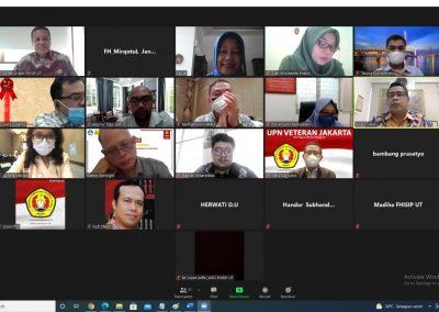 Fakultas Hukum UPN Veteran Jakarta dan Fakultas Hukum, Ilmu Sosial dan Ilmu Politik Universitas Terbuka Mengadakan Audiensi Membahas Program MBKM