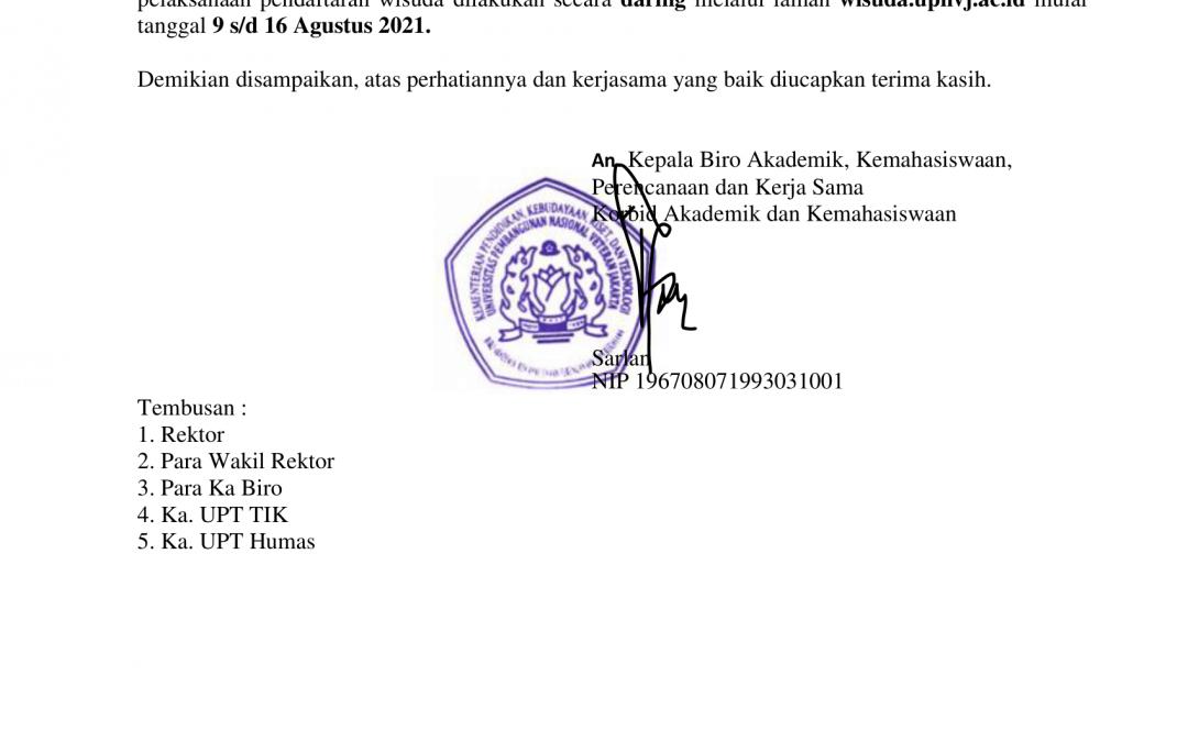 Pendaftaran Wisuda 67